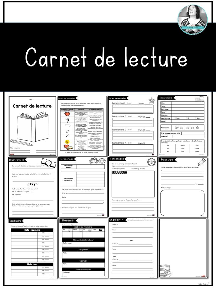 Carnet de lecture (modèle de base) (avec images) | Carnet ...