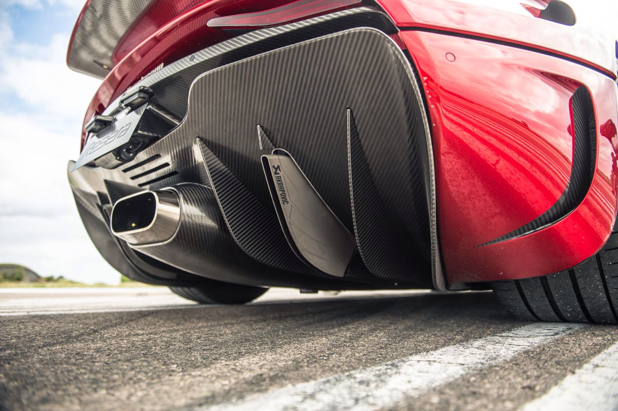 Regera Exhaust And Diffuser Corvette C4 Super Cars Automotive Art