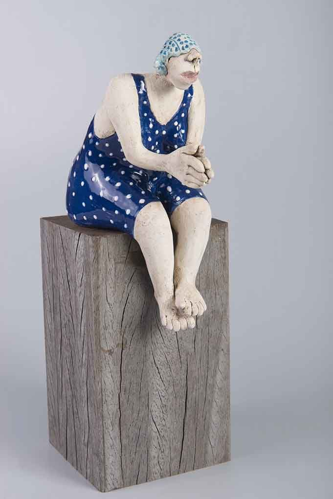 keramiek op blok hout Figuren ceramic Pinterest Keramik - figuren aus ton selber machen