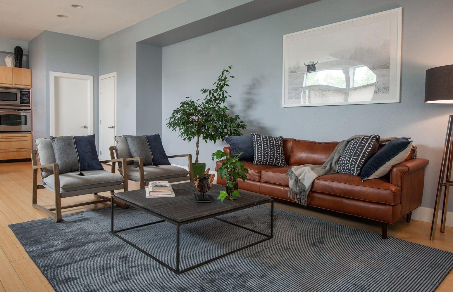 Downtown Denver Open Concept Living Room Design Beautiful