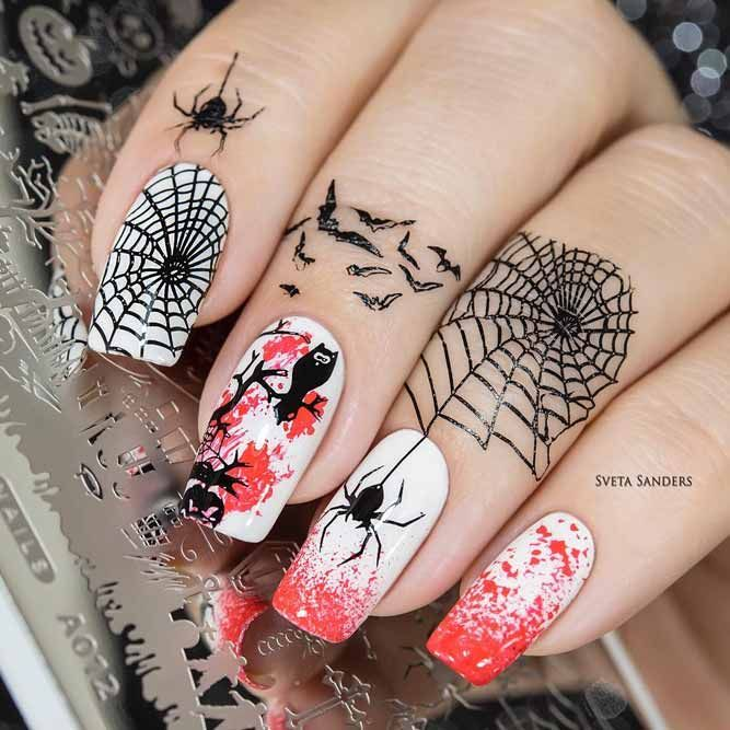 21 Cool Halloween Nail Art Ideas for You to be Delighted ...