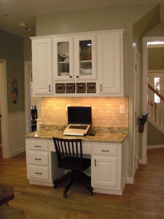 Attractive Kitchen Desk Ideas Kitchen Ideas On Pinterest Kitchen Desks  Built In Desk And Desks