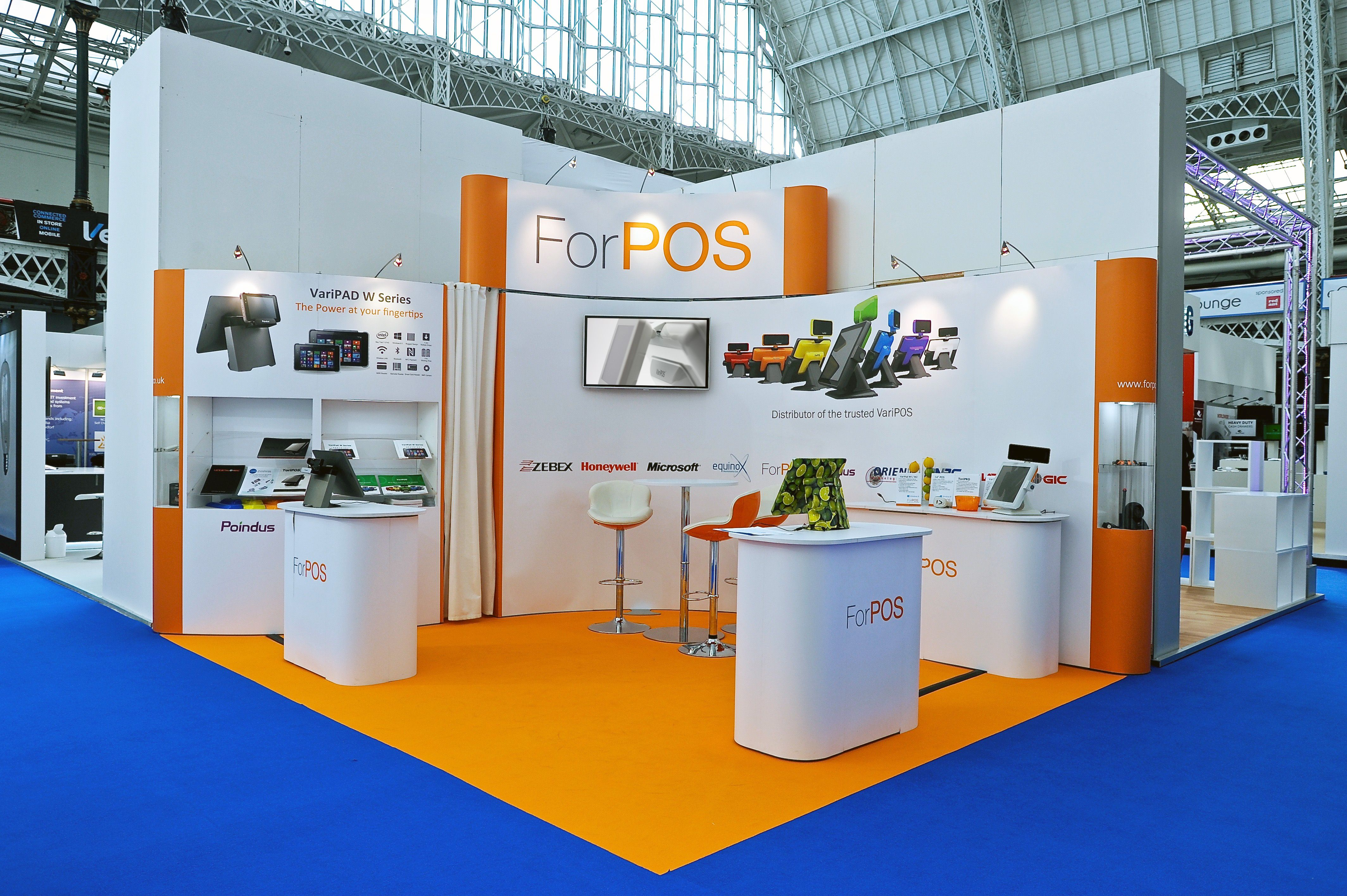 Flexible Exhibition Stands : Flexible exhibition pop up display for forpos at the rbte