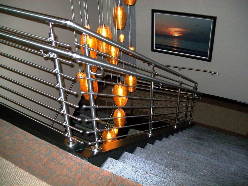 Steel grill design for stairs - Image Result For Simple Iron Stair Railings