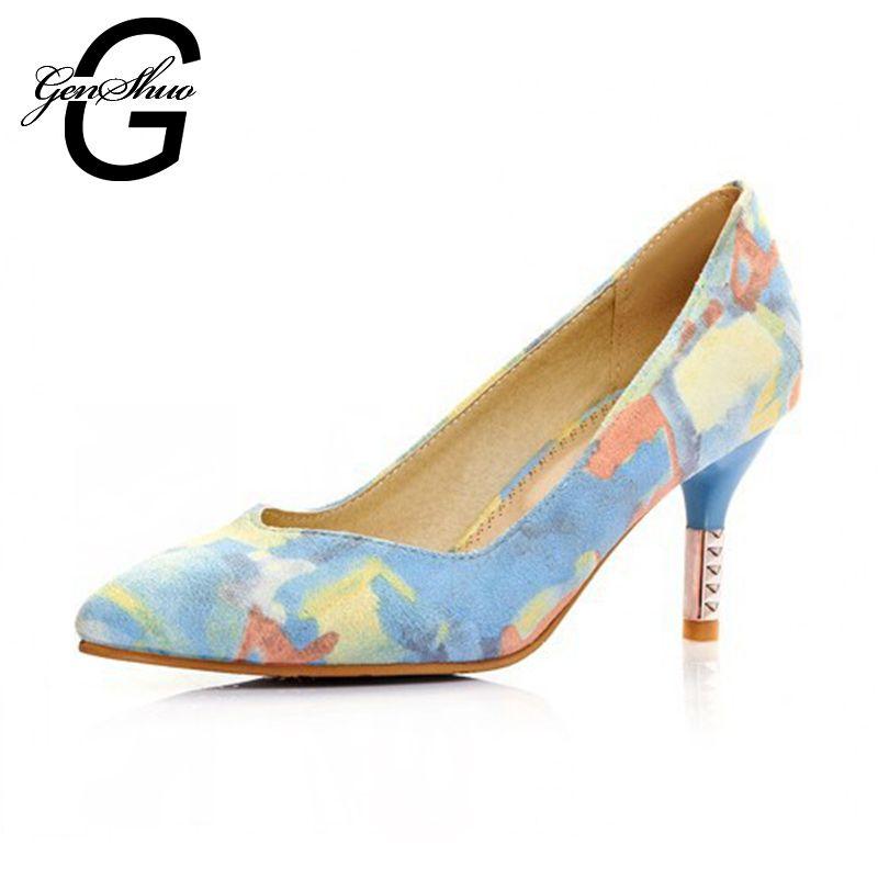 Aliexpress.com : Buy Women Pumps Floral High Heels Shoes Woman ...