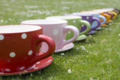 Large Tea Cup And Saucer Planter Cakepins Com Tire Crafts