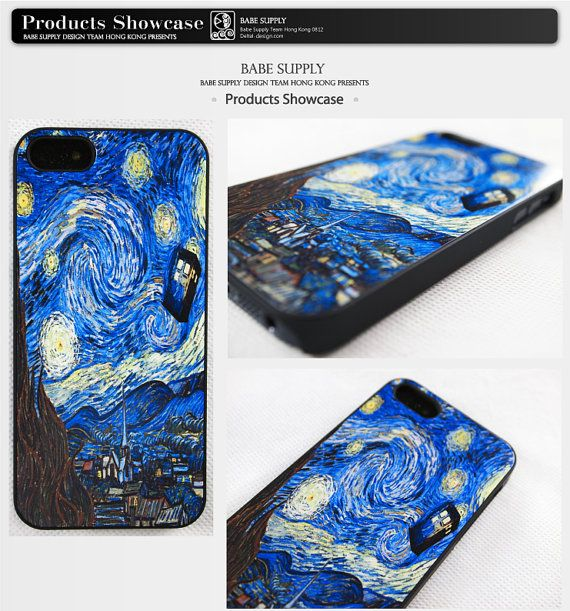 Tardis Doctor Who Starry Night On Iphone 5 Case Iphone 4s Case