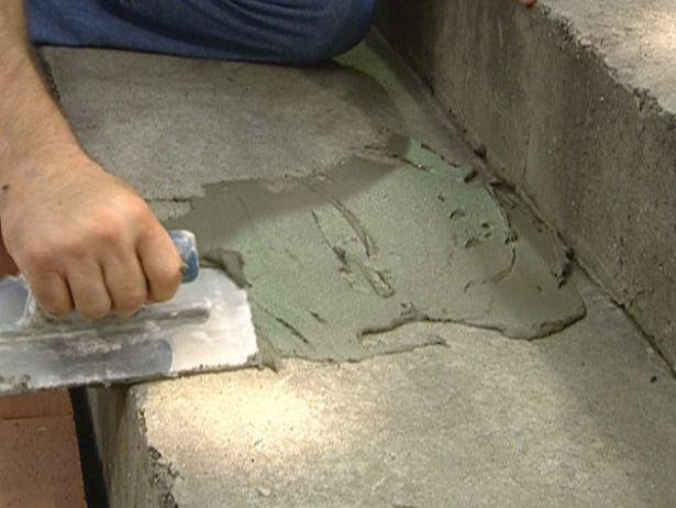 How To Give A Tile Facelift To An Ordinary Concrete Porch Concrete Front Porch Stained Concrete Porch Concrete Porch