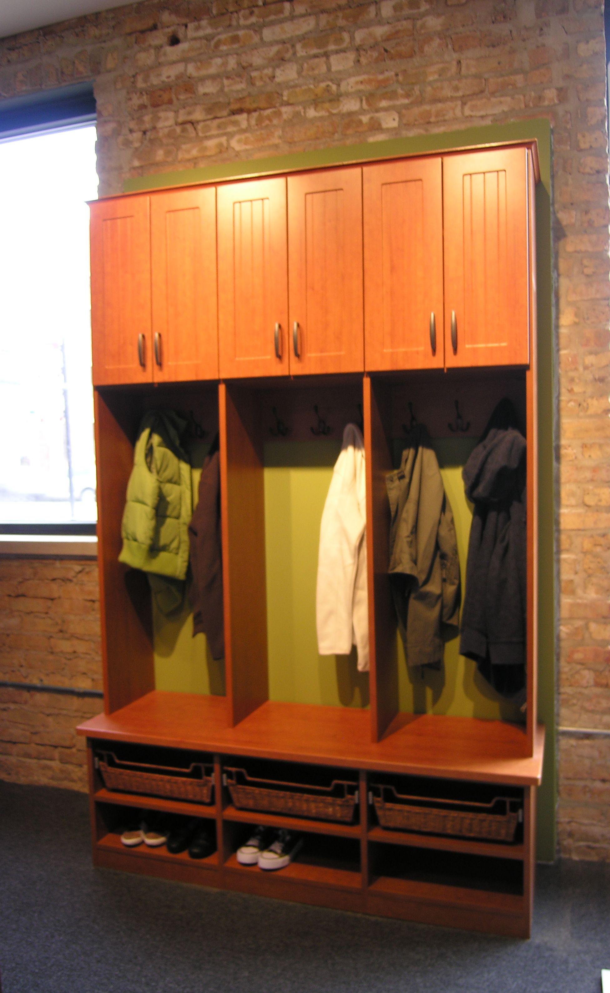 Beau Rustic Cherry Mud Room Perfection Custom Closets (Chicago, Illinois)  Aperfectcloset.com