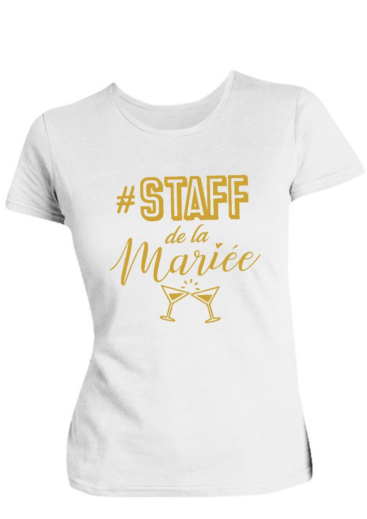 f15a9add1b5 Tee shirt evjf staff de la marié…