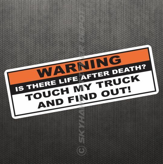 Outdoors etc DON/'T TOUCH MY TRUCK Female Decal JDM Funny Decal for Car Windows
