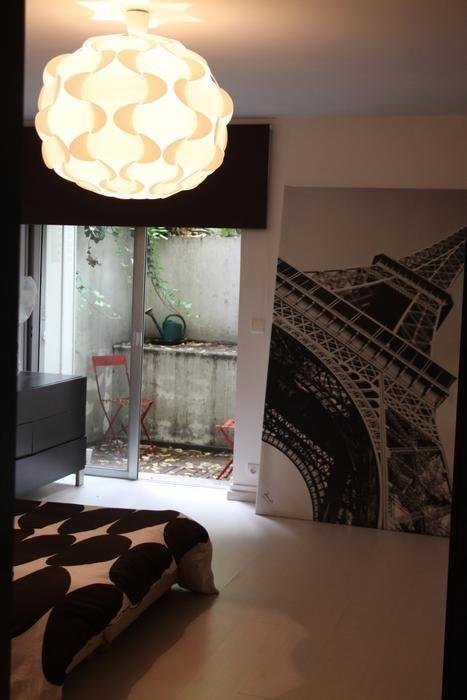 Idée déco chambre dans une maison verrière moderne       www - idee deco maison moderne