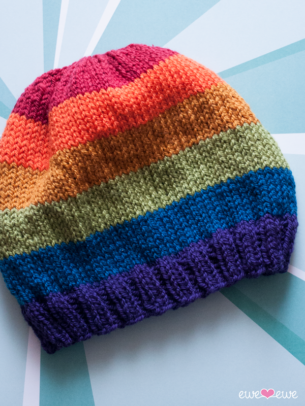 Pride Parade {free hat knitting pattern} | Knitting ...