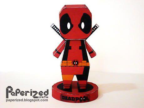 marvel comics deadpool free paper toy download http www