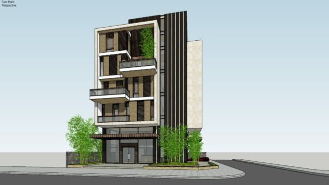 Large Preview Of Model Small Office Apartment Complex Commercial Architecture Building Design