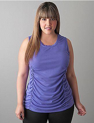 e04875dc161 Ruched sleeveless top by Reebok   CUTE. Ruched sleeveless top by Reebok    CUTE Plus Size Activewear ...