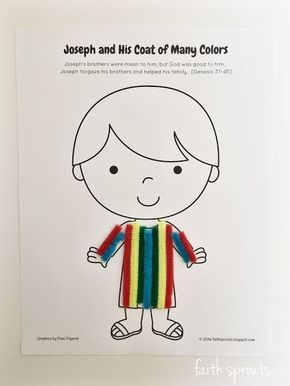 photo relating to Joseph Coat of Many Colors Printable identify Printable of Joseph and His Coat of Innumerable Shades craft for