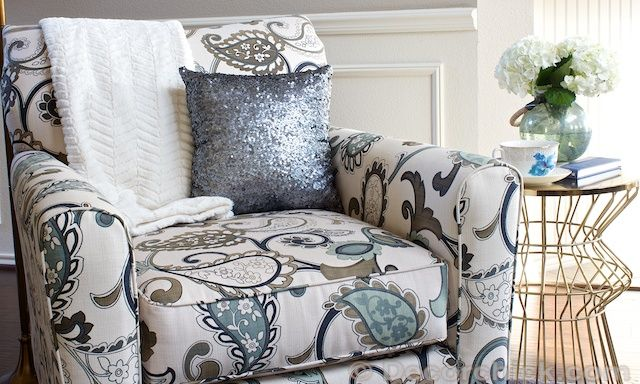 Side Accent Chair With Sequin Pillow Www Decorchick Com