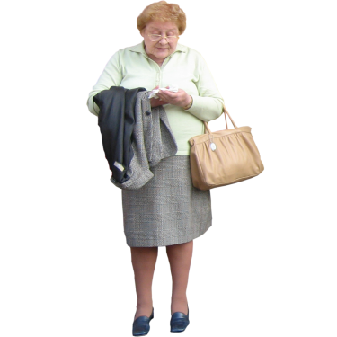 Sweet Old Lady With A Purse People Cutout Old Women Lady