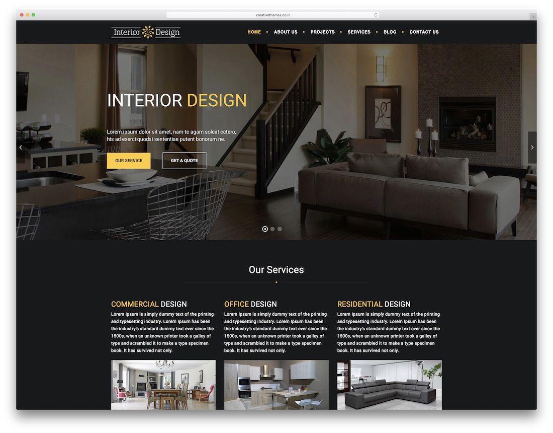 23 Best Responsive Interior Design Website Templates 2020