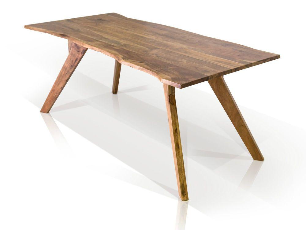 Gera Ii Esstisch Mit Baumkante Tisch Massivholztisch Holz Akazie