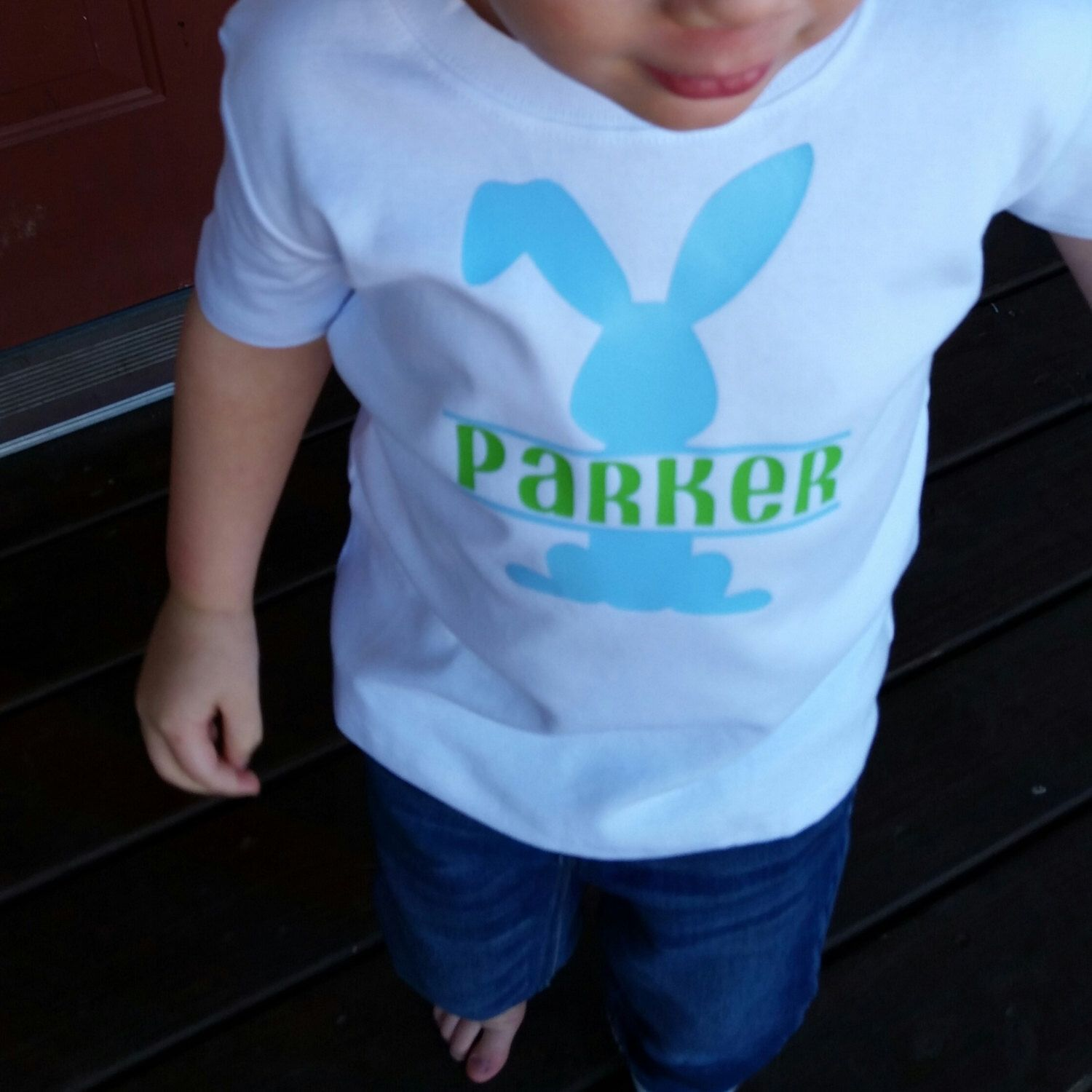 cdb3f7cdb This is the perfect Easter vinyl monogram shirt for your little one! In the  note