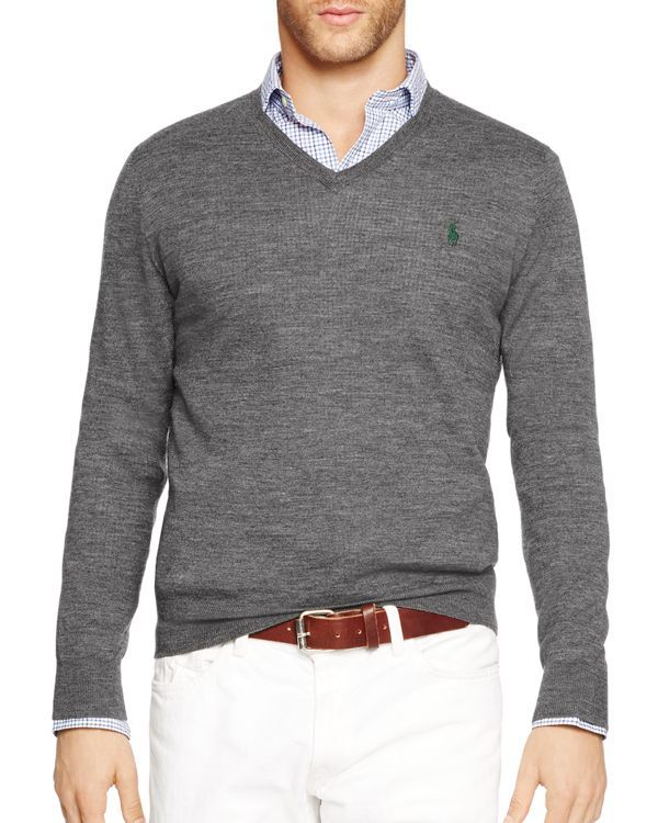 2e4dae14b Polo Ralph Lauren Slim-Fit Merino V-Neck Sweater