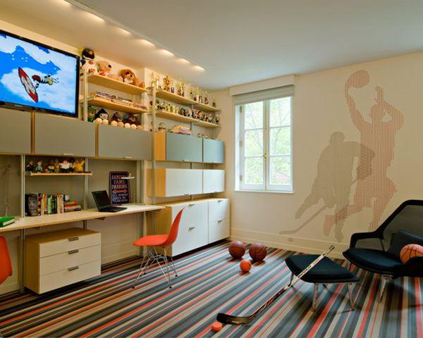 20 sporty bedroom ideas with basketball theme boys room boys rh pinterest com