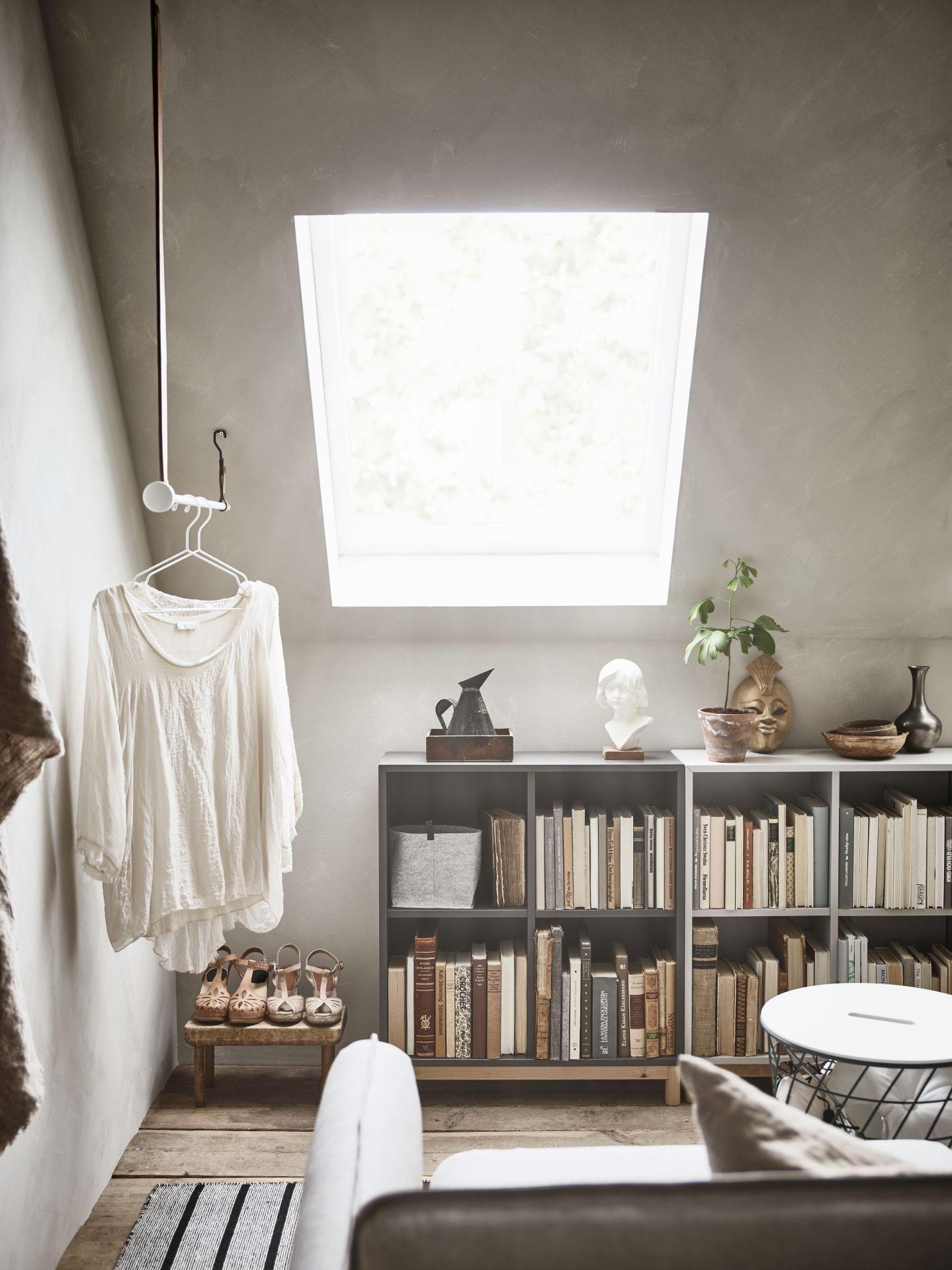 EKET Kast met 4 vakken, wit | Attic, Ikea eket and College room