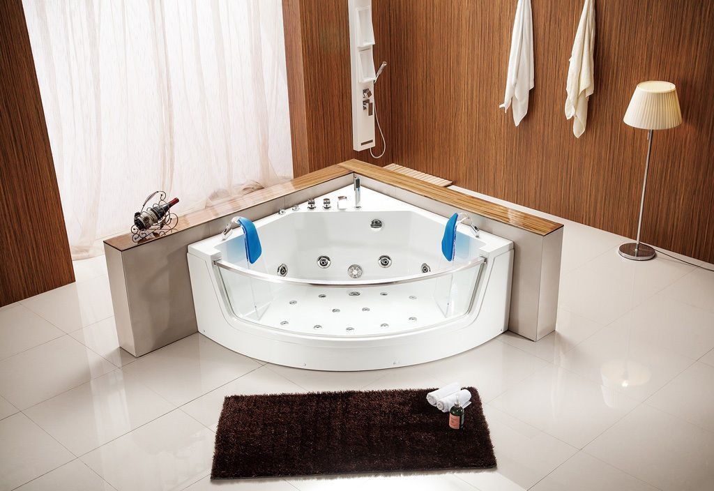 Indoor Computerized Hydrotherapy Whirlpool Jetted Massage Bathtub ...