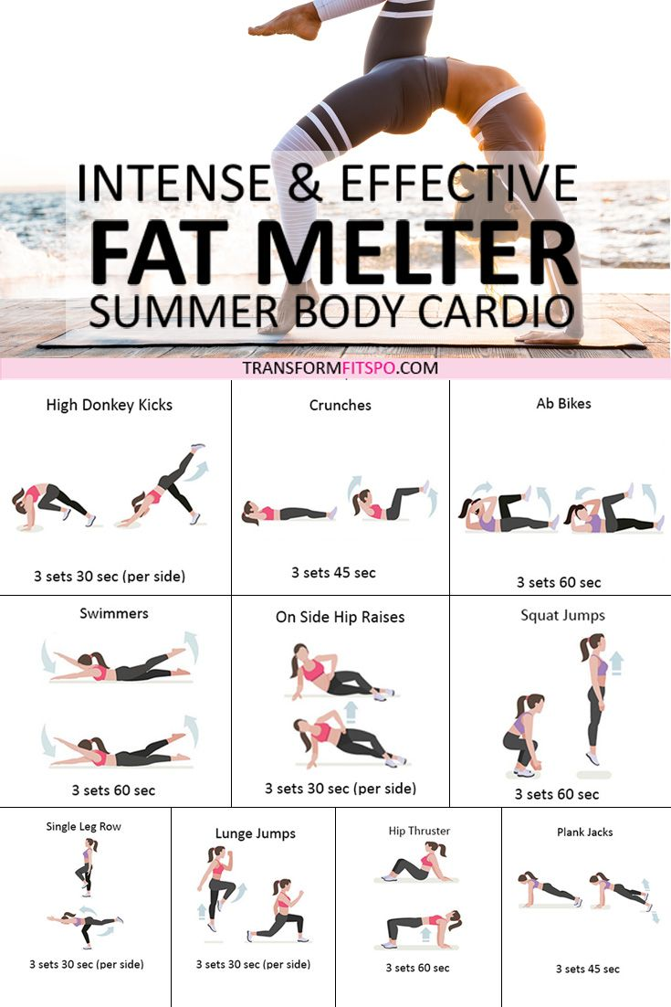 ⭐️ How to Melt Fat? Summer Cardio Workout for Wome