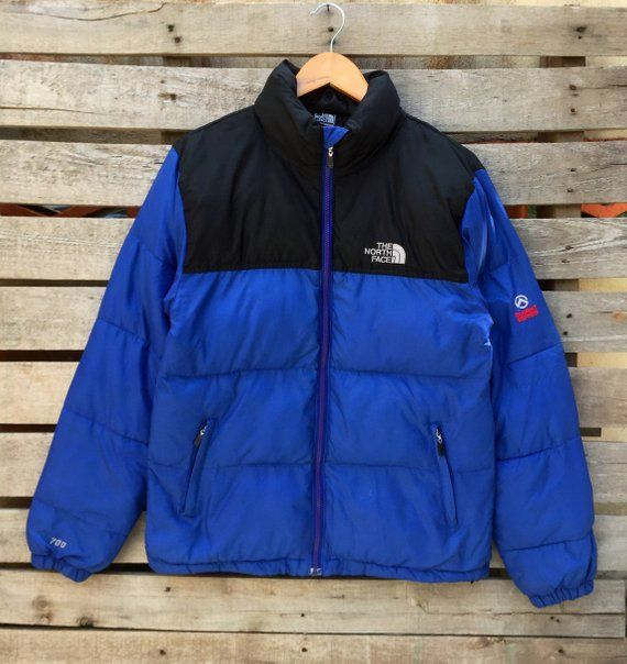 7e42ade45a Rare! Vintage The North Face Puffer Jacket Men s Vintage 1990s Sweater Blue  Black Color The north fa