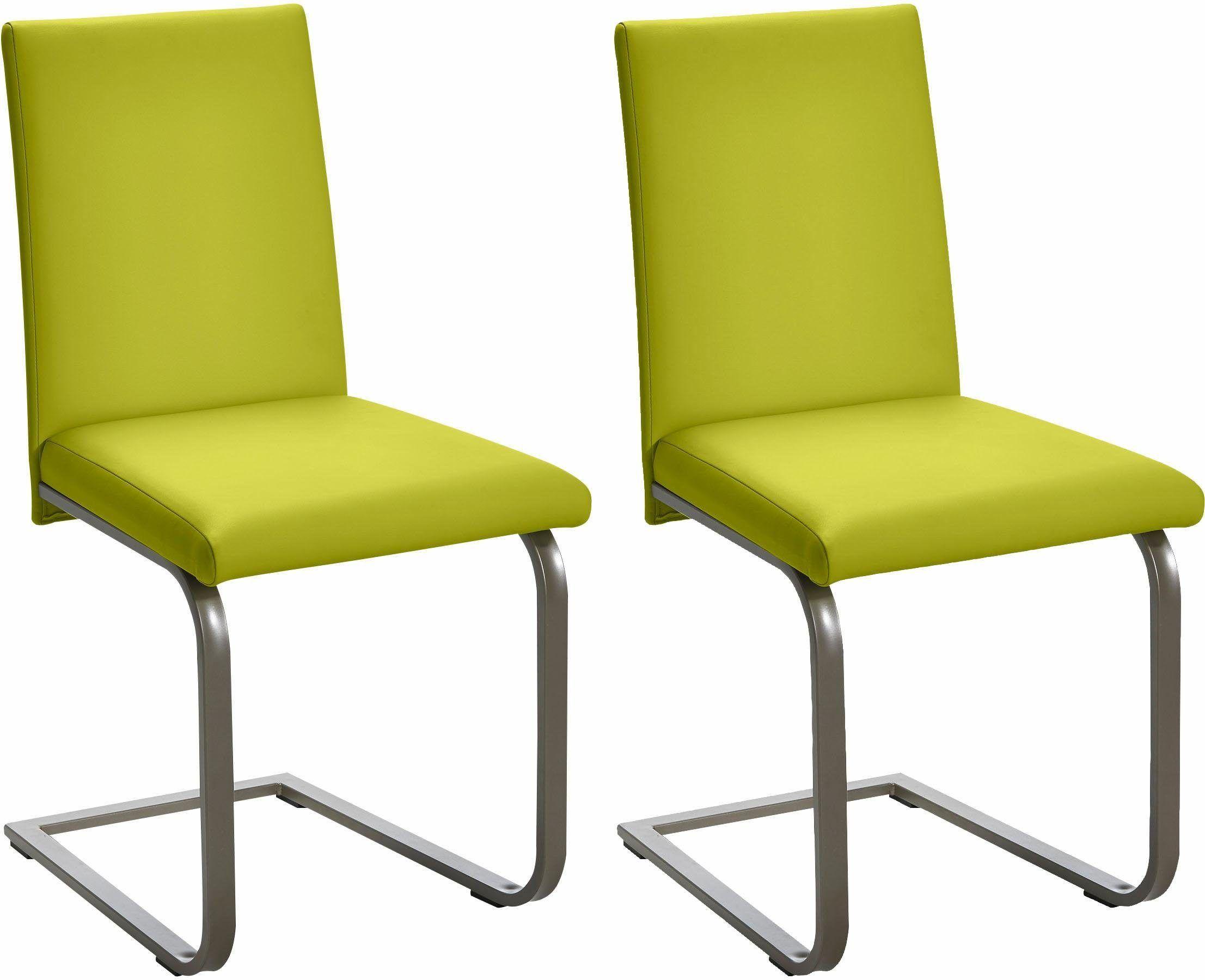 SCHÖSSWENDER Stühle (2 Stück) grün, pflegeleichtes Kunstleder, FSC ...