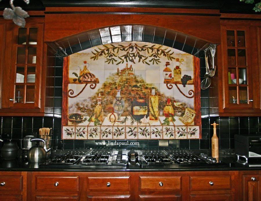 Tuscan Backsplash Designs Custom Italian Kitchen