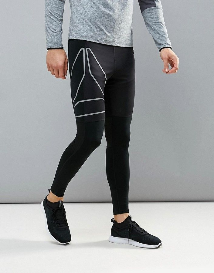 509a962139 Men's Reebok Running Reflective Tights, compression tights, jogging tights, compression  leggings, night running, gym leggings, yoga leggings, ...