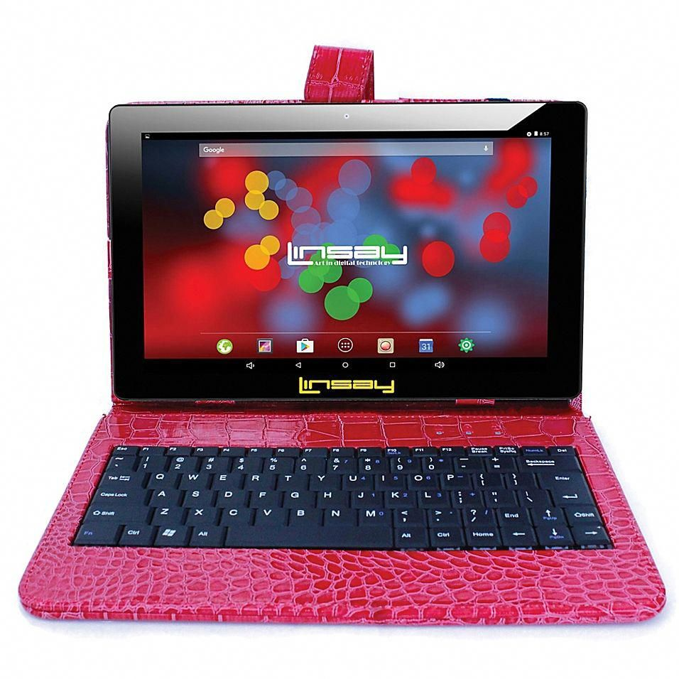 "Linsay 10.1"" 1280 X 800 Ips 16Gb Tablet With Crocodile"