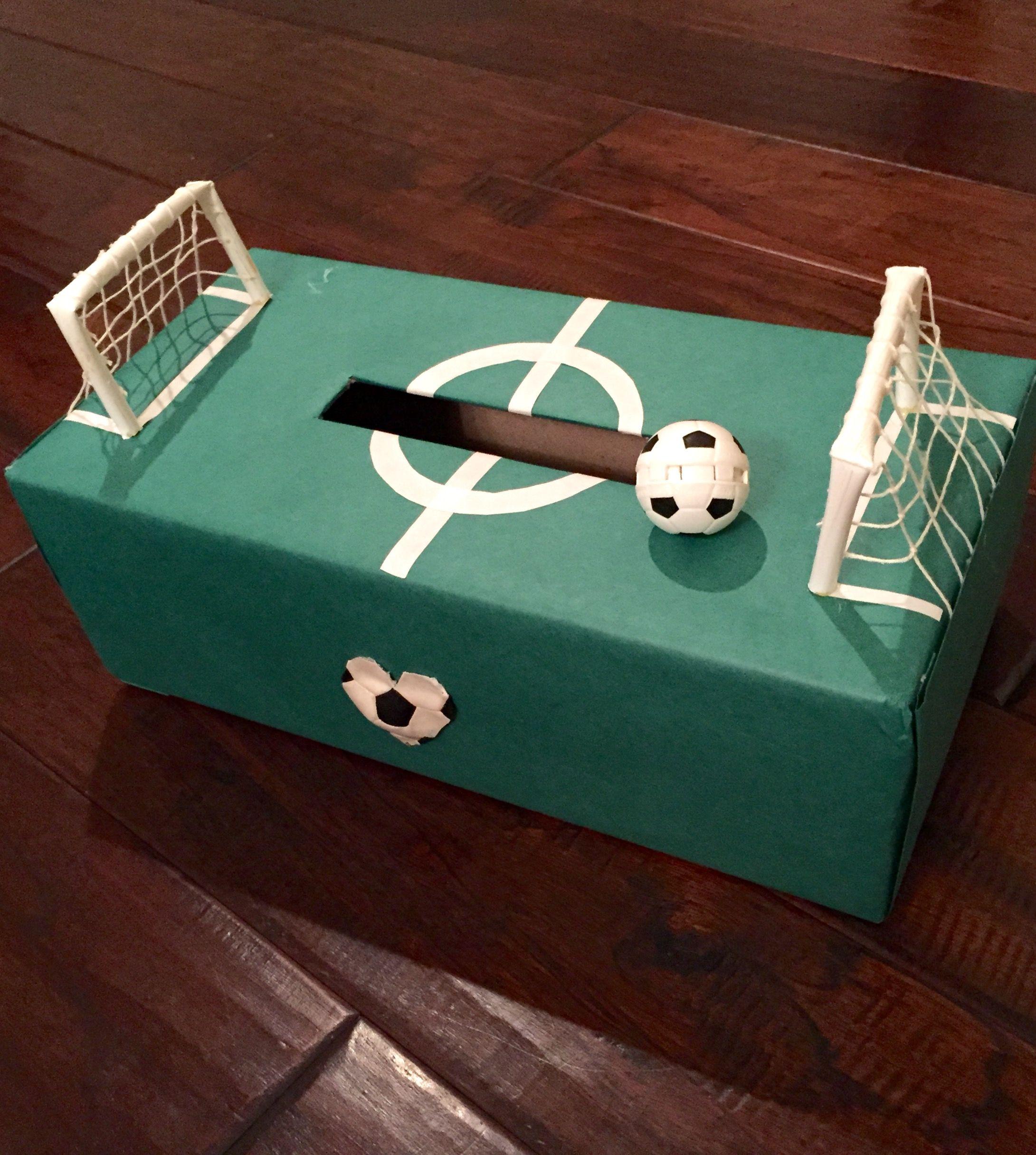 Valentine Decorated Boxes: Valentine's Box Soccer Field