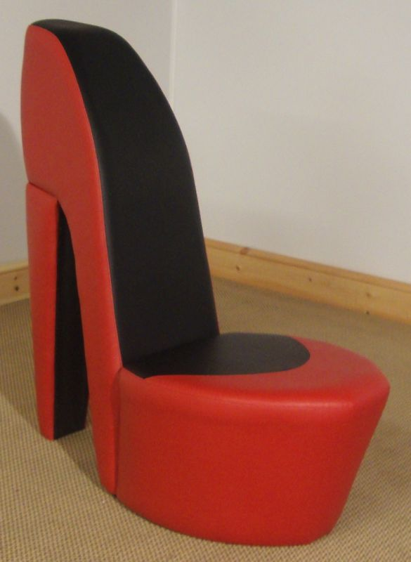 Red Amp Black Shoe High Heel Stiletto Chair Living