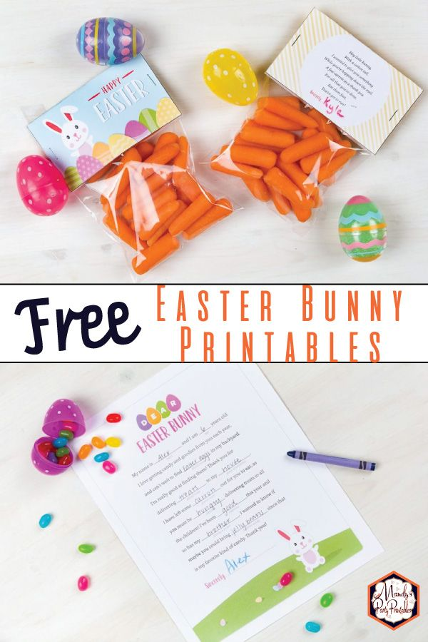 Have fun with your kids while preparing for the Easter Bunny with these free Easter Bunny Free Printables at Mandy's Party Printables! Easter Bunny footprint template and more!