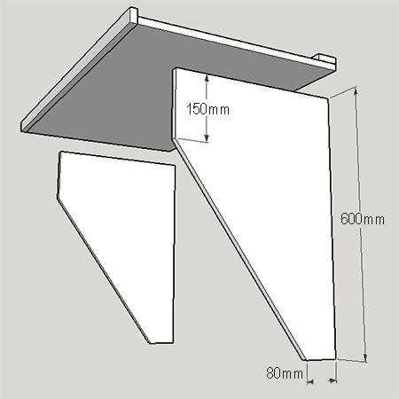 Easy Diy Drop Down Table Shelf For Shane To Make Decor