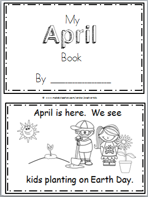 Free April Mini Book for Kindergarten Reading   Easter/spring crafts ...