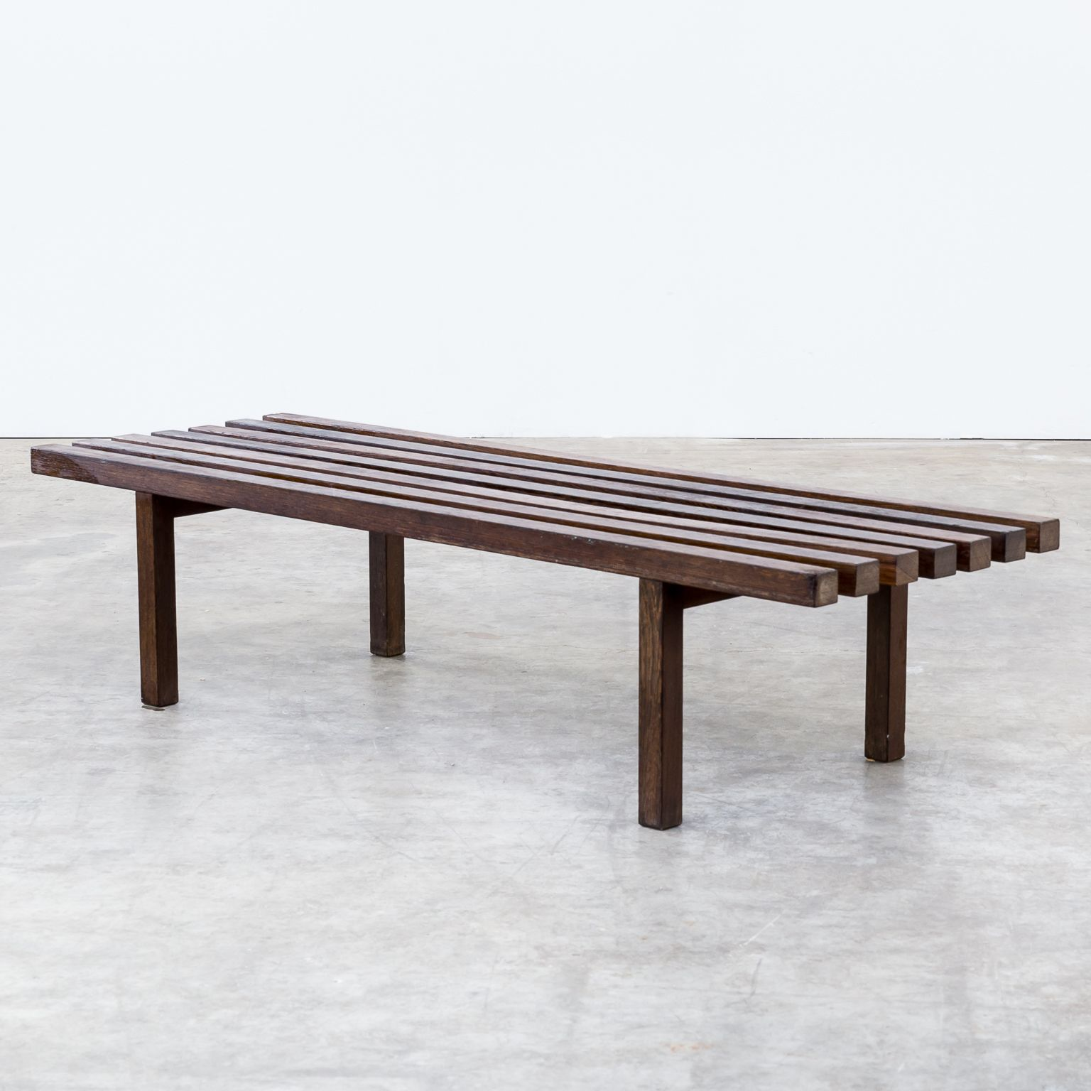 60S Weng Slatted Bench, Museum Bench