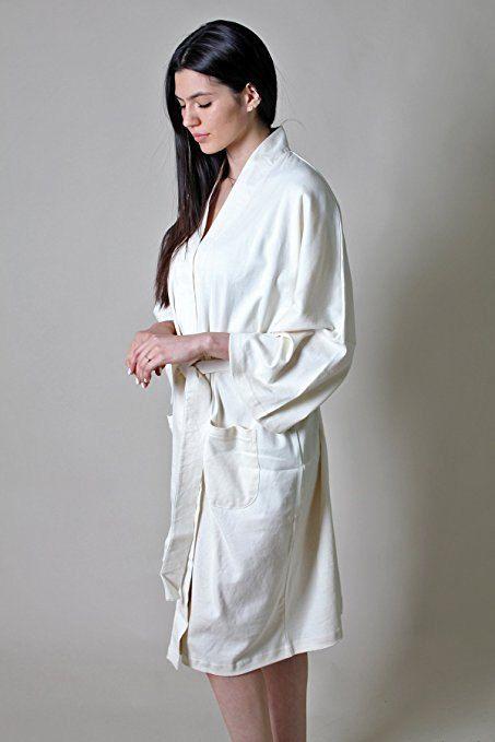 100% ORGANIC COTTON Women s Spa Bath Robe-Super Soft 1aaace7b8