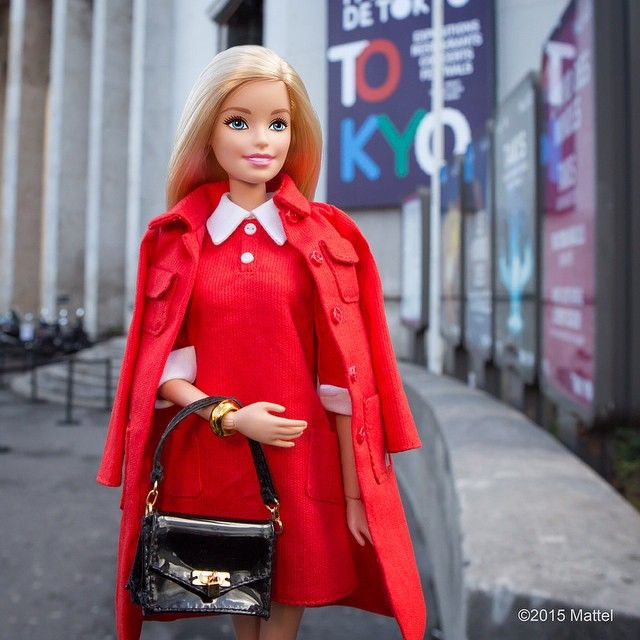 """At Palais de Tokyo to take in my first fashion show of the week.  #pfw #barbie #barbiestyle"""