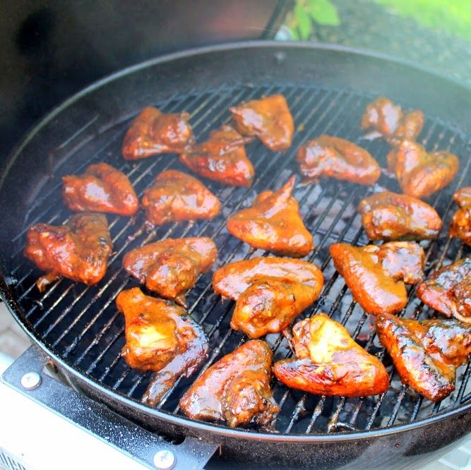 Inspired By eRecipeCards: Grilled Pineapple Jerk Chicken Wings - 52 Grilling Time Secret Appetizers