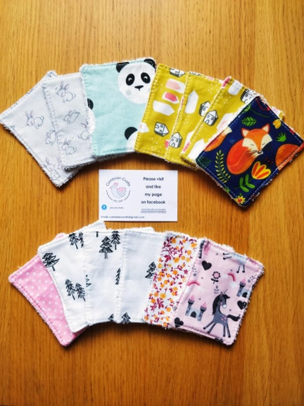 Reusable Face Wipes, Cloth Make Up Remover Pads, Washable