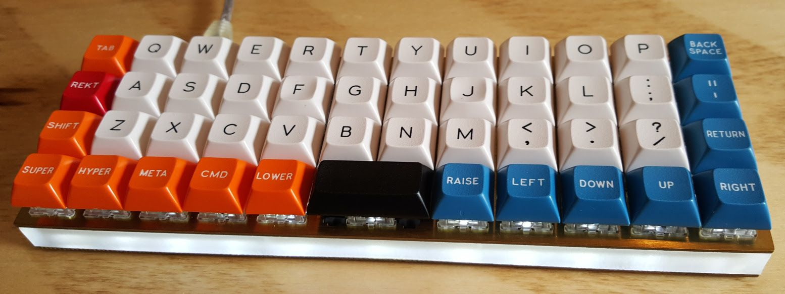 Planck Keyboard  Columnar Keyboard  ortholinear | Ergonomic