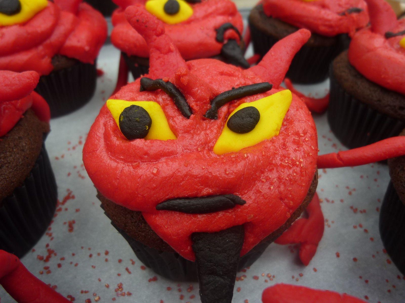 Devilish Black-and-Orange Cookies
