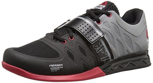 7236593bcf8709 Reebok Mens R Crossfit Lifter 20 Training Shoe BlackFlat GreyExcellent Red  95 M US   ON SALE Check it Out