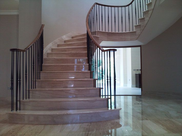 Best Fabricated Mild Steel Staircase With Wrought Iron 640 x 480